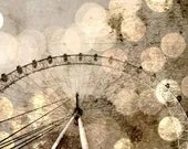 "London Eye Giant Ferris Wheel, Bokeh Photo - Fine Art Photography 8x12"" Matte Print, London, England, United Kingdom - AnnaDelores"