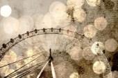 "London Eye Giant Ferris Wheel, Bokeh Photo - Fine Art Photography 8x12"" Matte Print, London, England, United Kingdom - AnnaDelores"