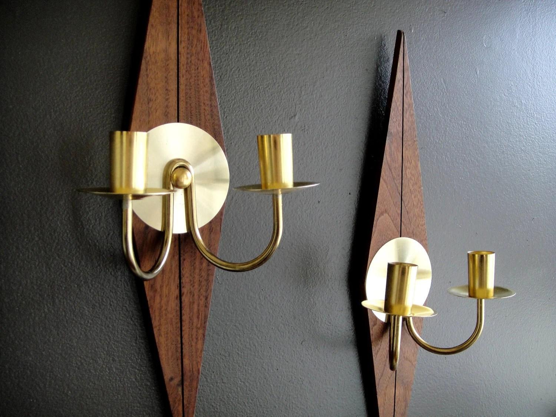 Teak Wall Sconces Mid Century Modern Danish Design Pair of on Mid Century Modern Sconces id=67040