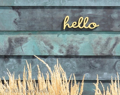 Little Hello Wall Sign - sayhelloshop