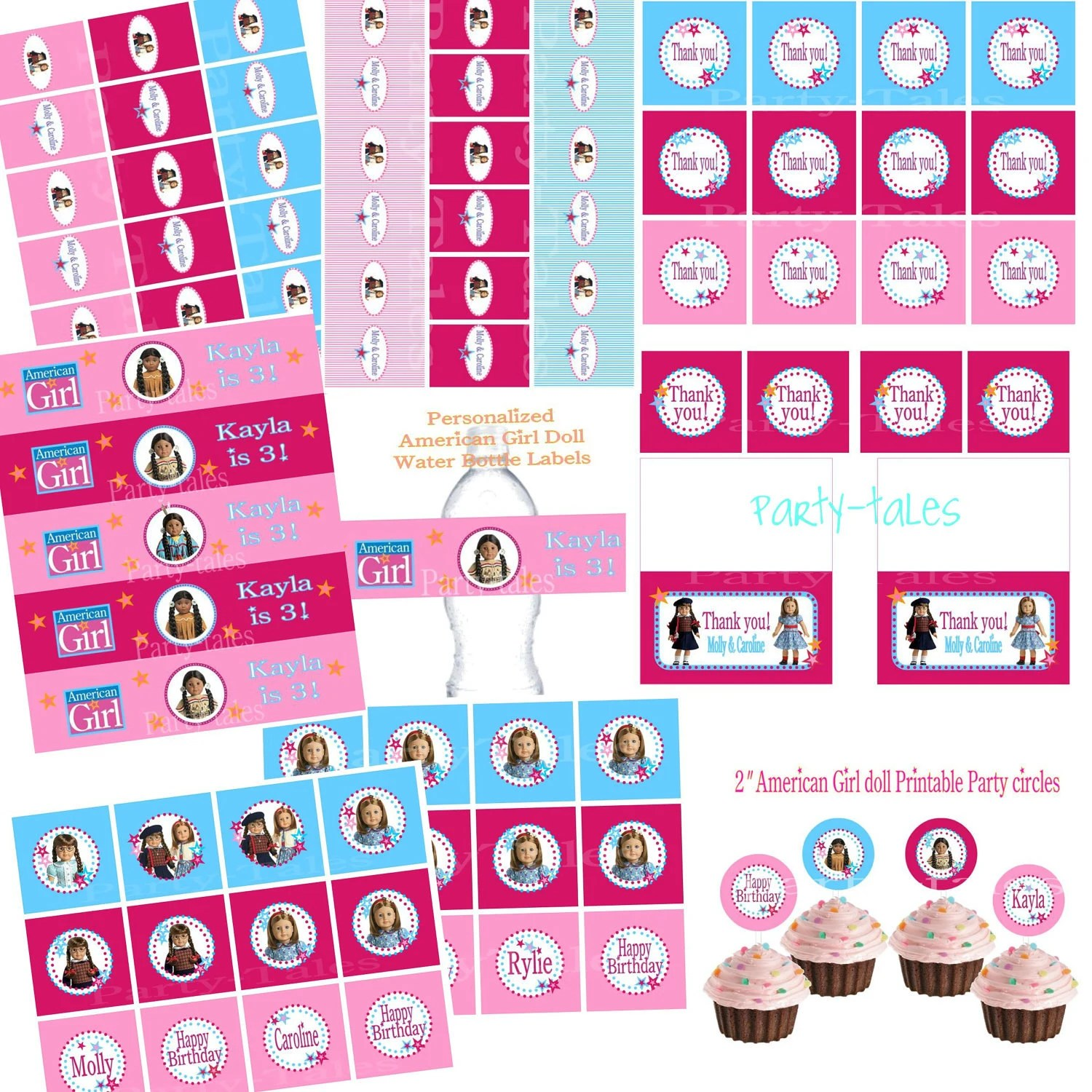 American Girl Doll Party Collection Cupcake By Shoppartytales
