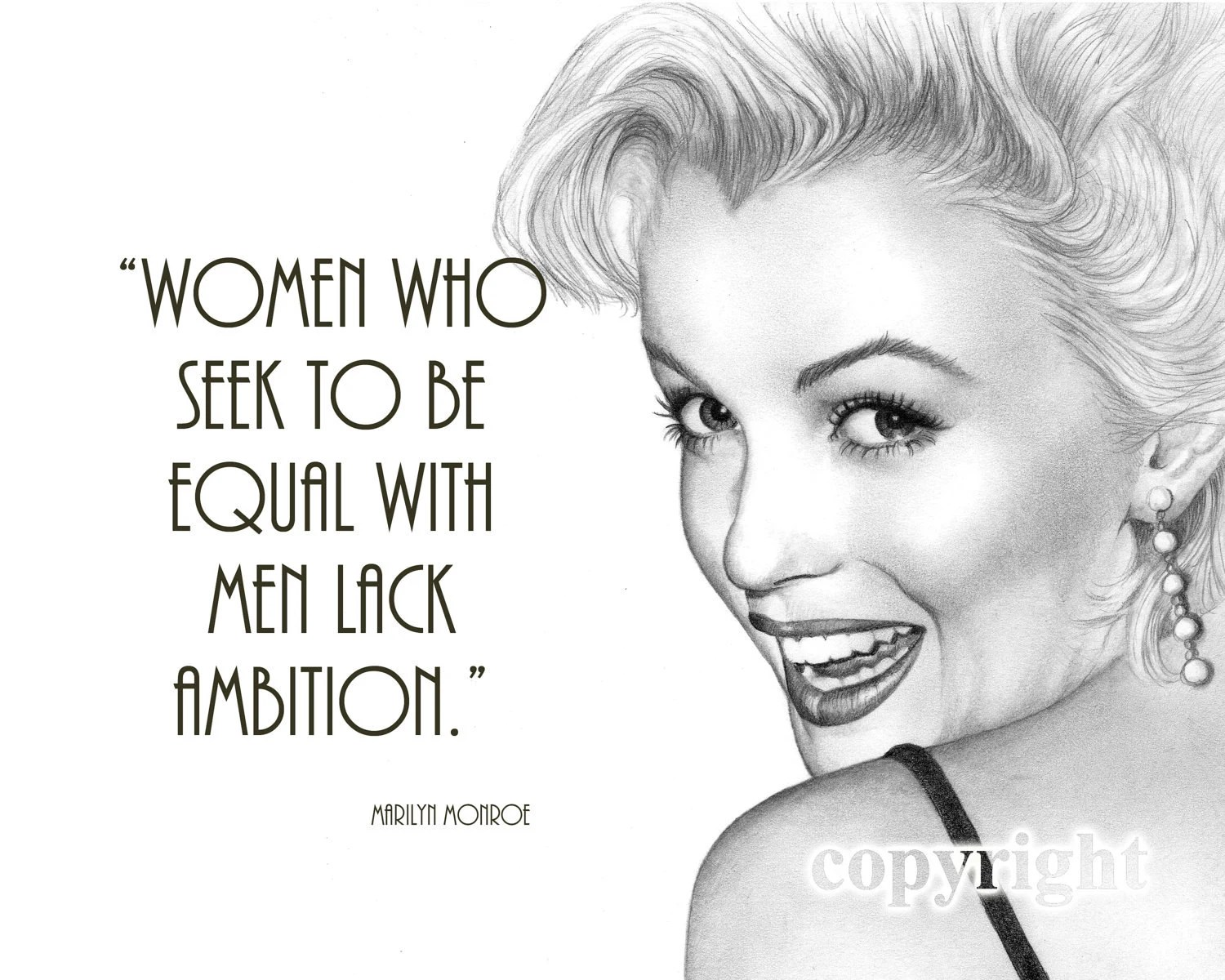 Marilyn Monroe Quote, 8x10 Fine Art Print by Wendy Hogue Berry - TheBerryPress