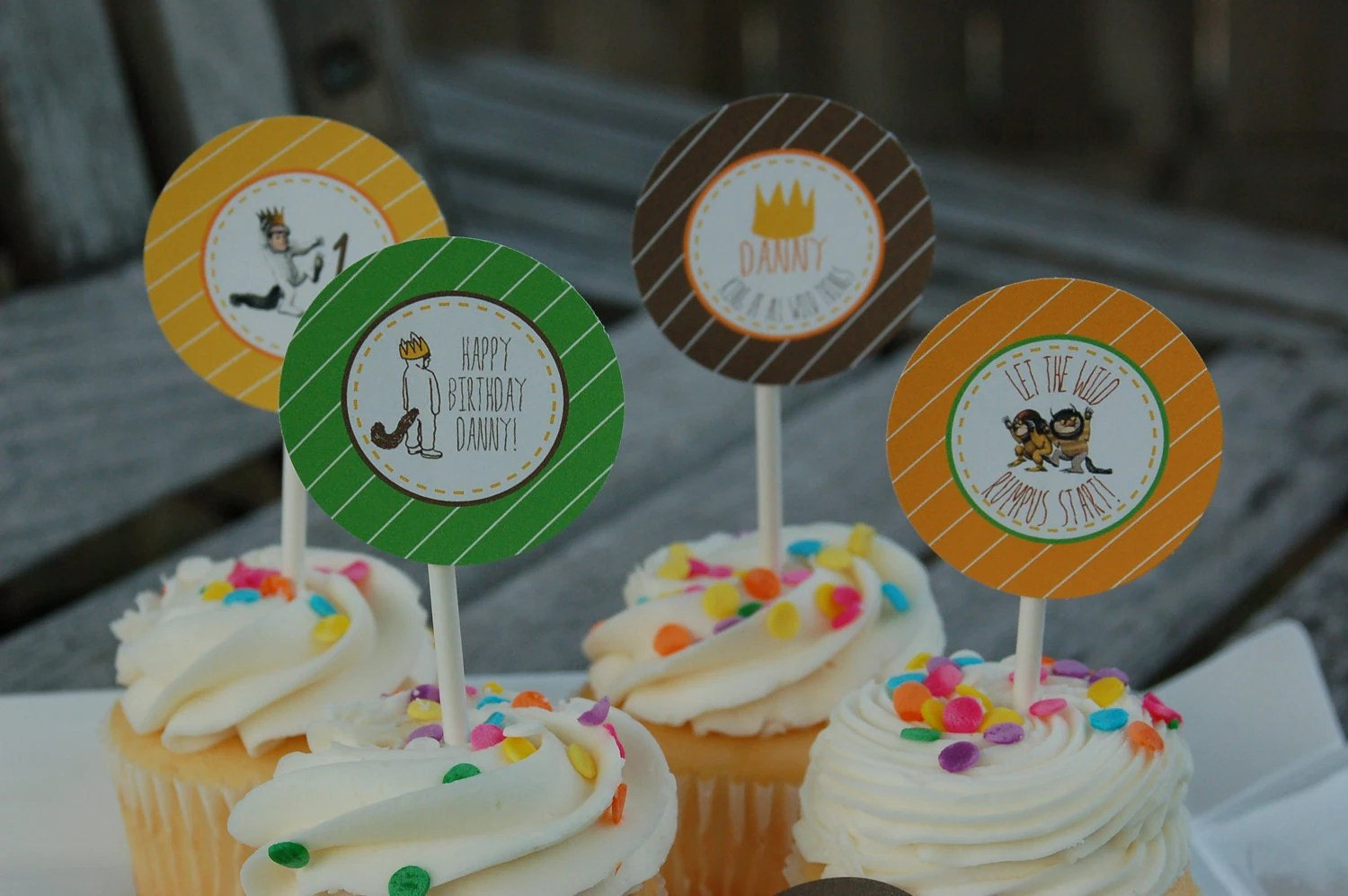 Where The Wild Things Are Cupcake Toppers/Tags By
