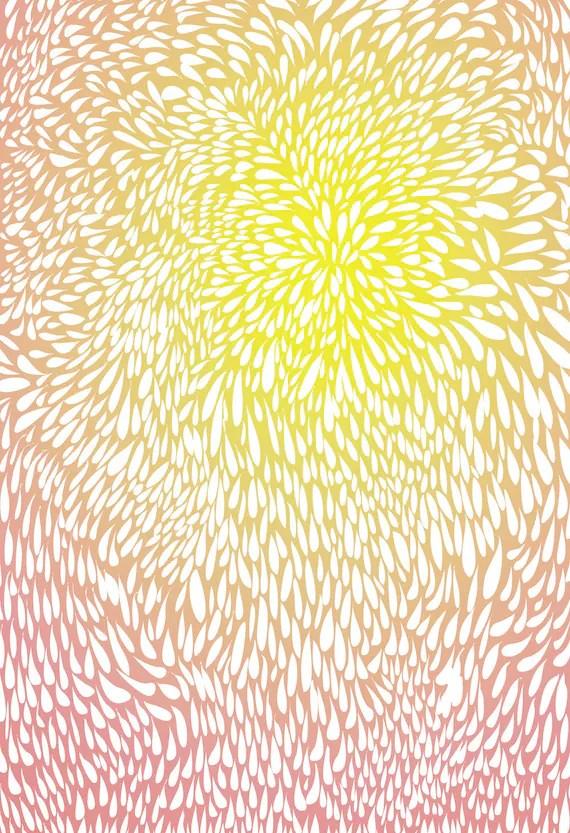 Abstract Print Poster- Morning Sun - 13 x 19 - Open Edition - sun print, pink, yellow - AeropagitaPrints