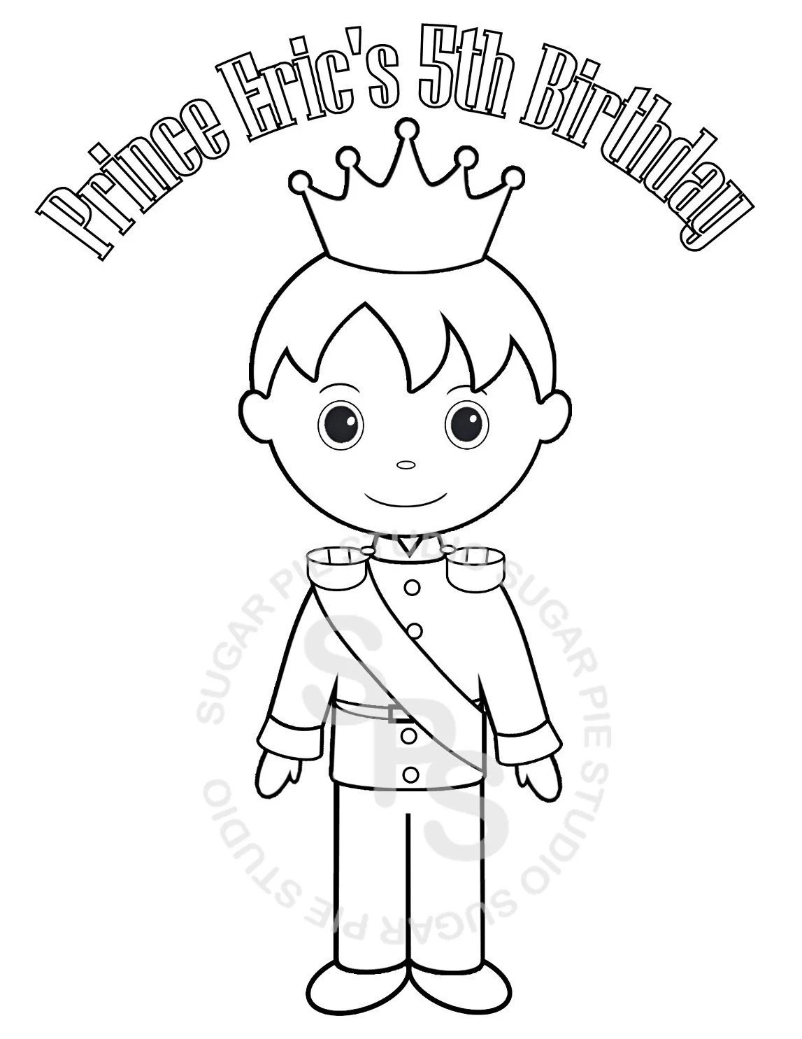 Personalized Printable Princess Prince Knight Birthday Party