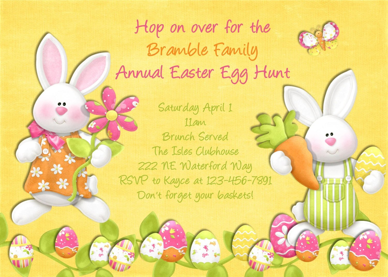 Easter Egg Hunt Invitation Printable And Custom By 3peasprints