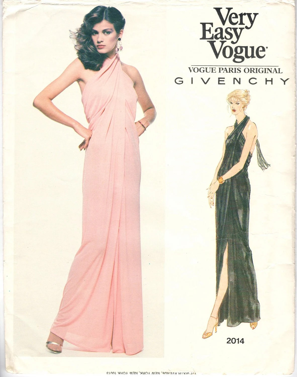Gia Carangi on the cover of Vogue 2014 by Givenchy (1970s)