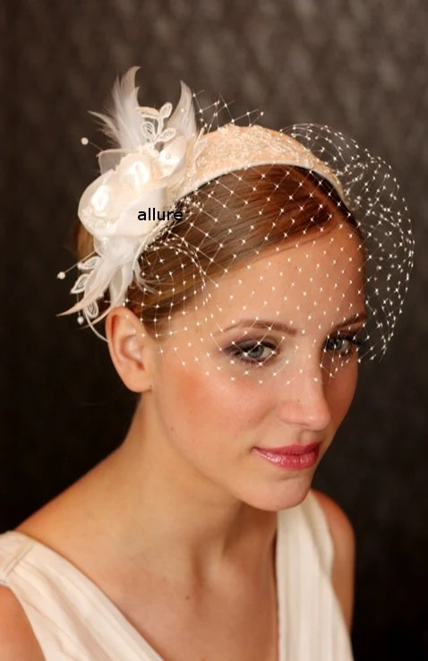 Items Similar To BIRDCAGE VEIL HEADBAND Detachable Hair