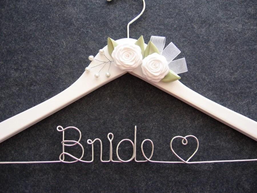 Items Similar To WHITE Bridal Hanger