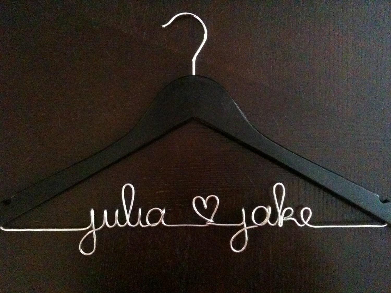 Custom Wedding Dress Hanger BLACK By HandcraftedAffairs On