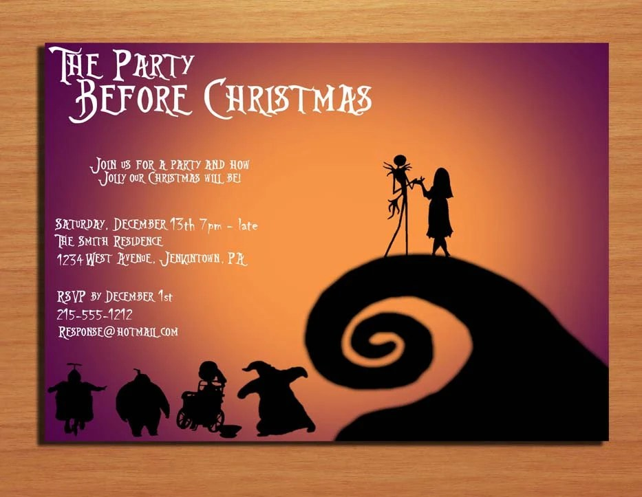 Customized Printable Christmas Party By Sapphiredigitalworks