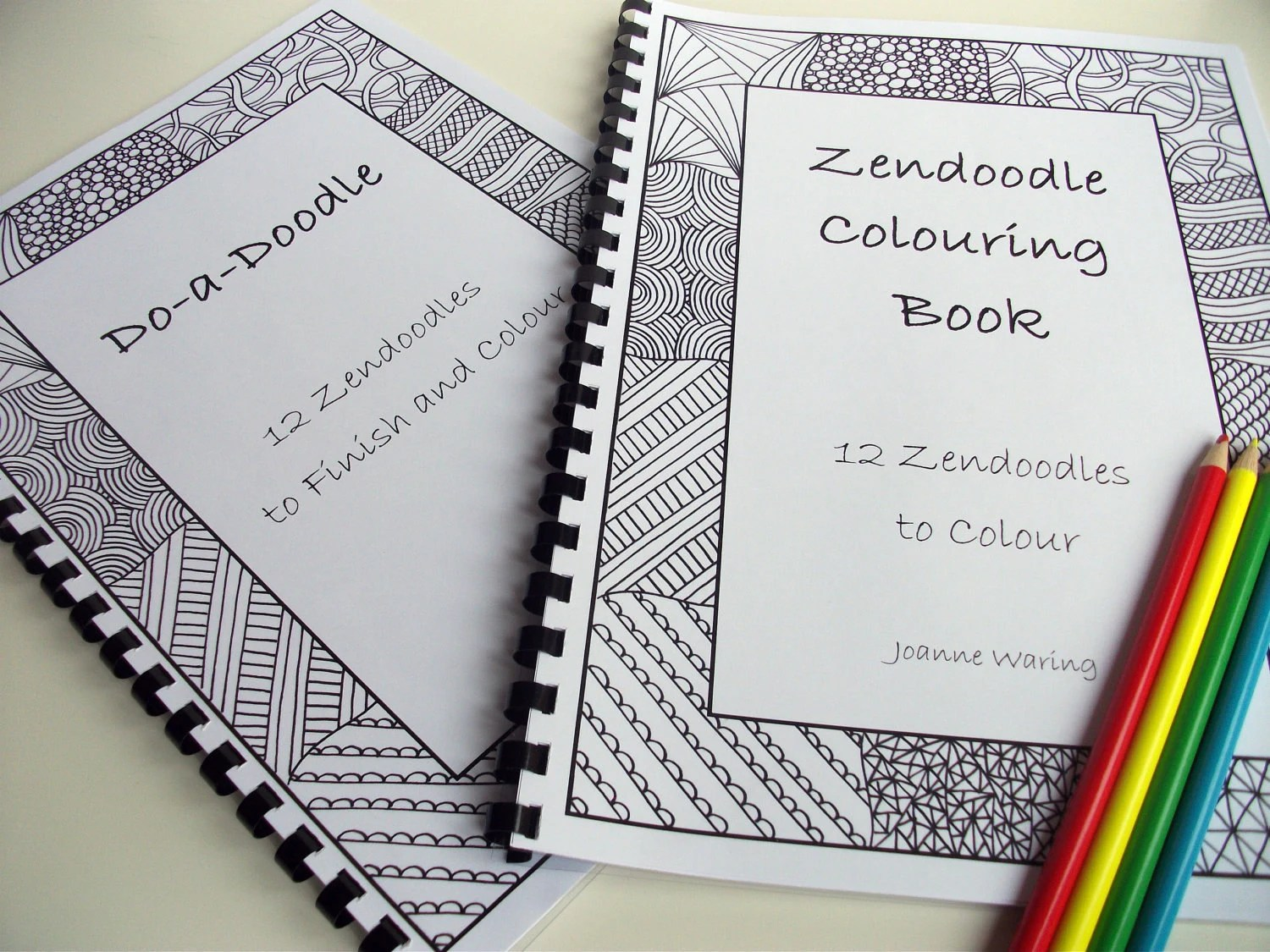 Cyber Monday Etsy Set Of 2 Printable Zentangle Inspired Doodle