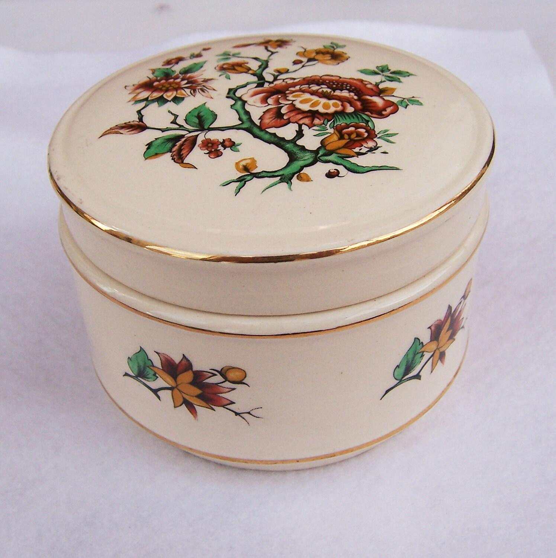 Vintage sadler floral trinket box vintage home decor for Vintage home decorations uk