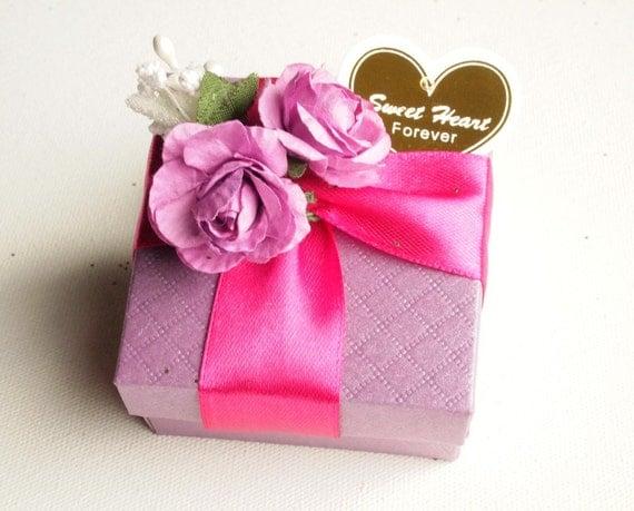 Items Similar To Wedding Favors Purple Blue Fuchsia, Ring