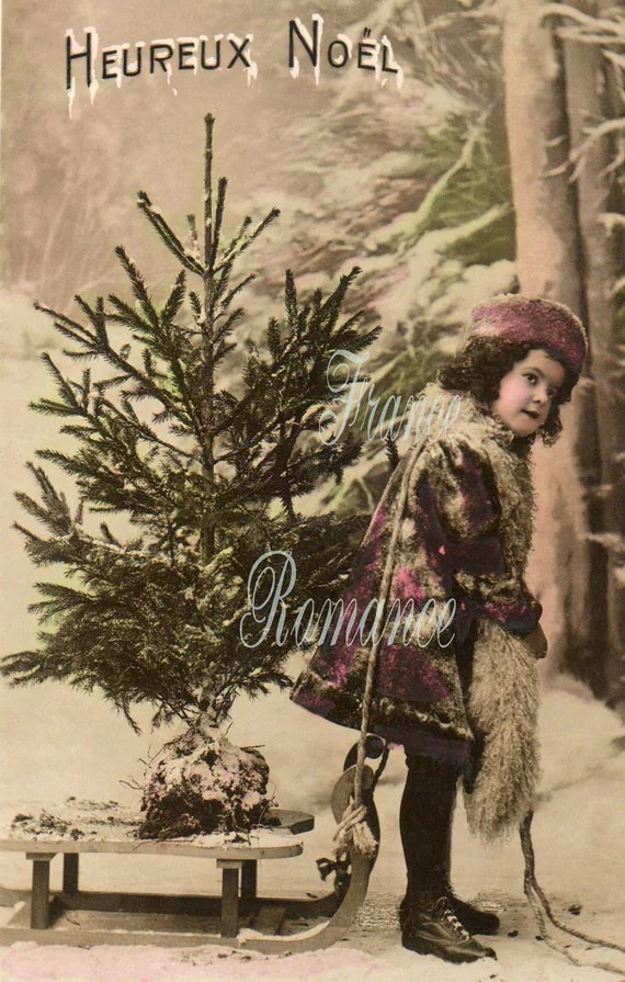 Items Similar To Perfect Christmas Tree French Antique