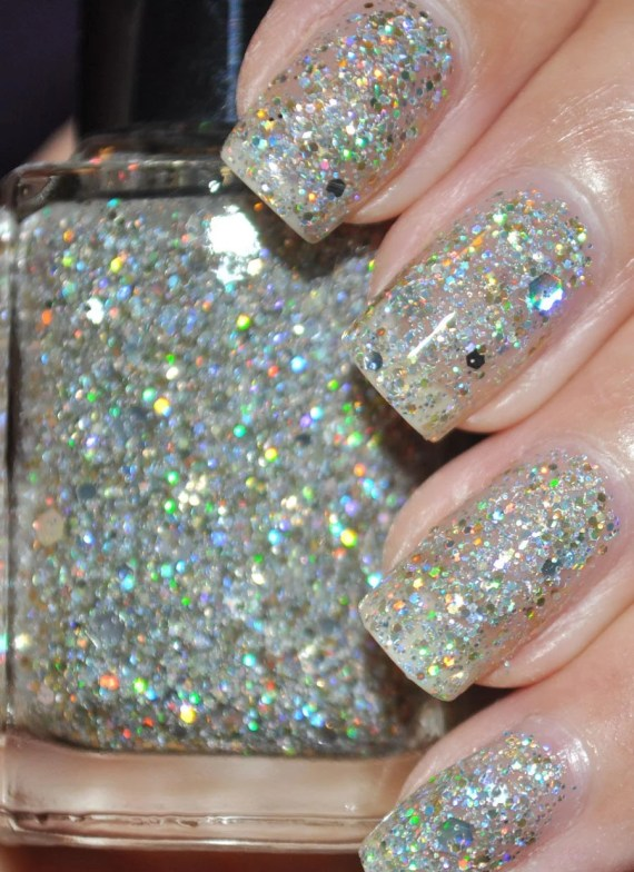 Mumbling Silver and Gold Holographic Glitter Nail Polish 15ml(.5oz) - TheHungryAsian