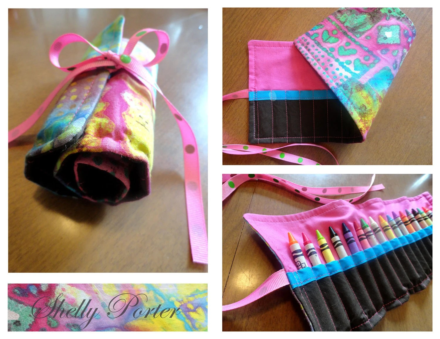 Pink Crayon Roll Up