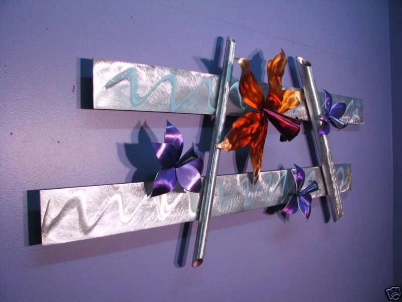 Metal Wall Art Orchid Flower Abstract Metal Sculpture Decor