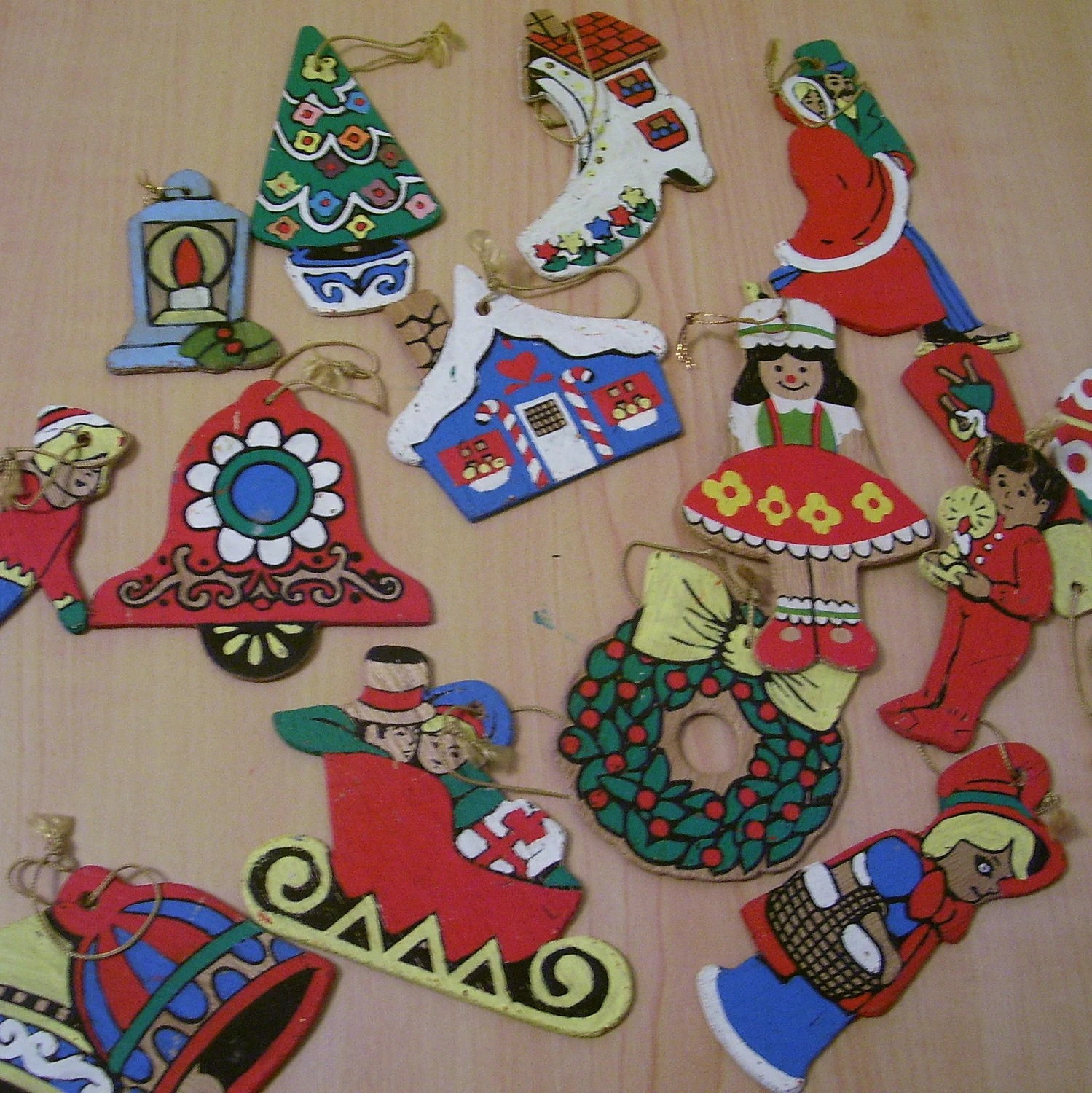 Wooden Christmas Ornaments Paint By Number Ornaments