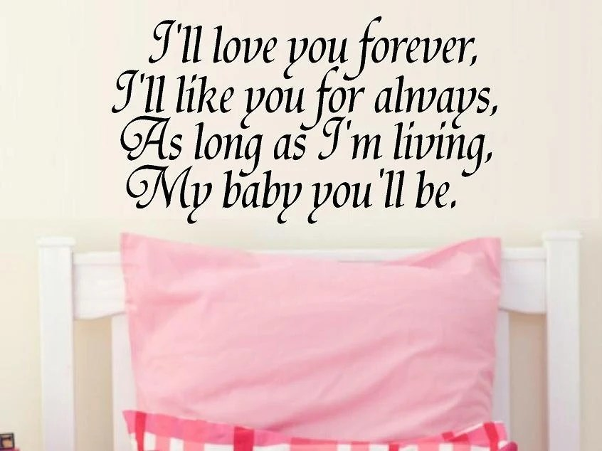 Download Items similar to vinyl wall decal quote I'll love you ...
