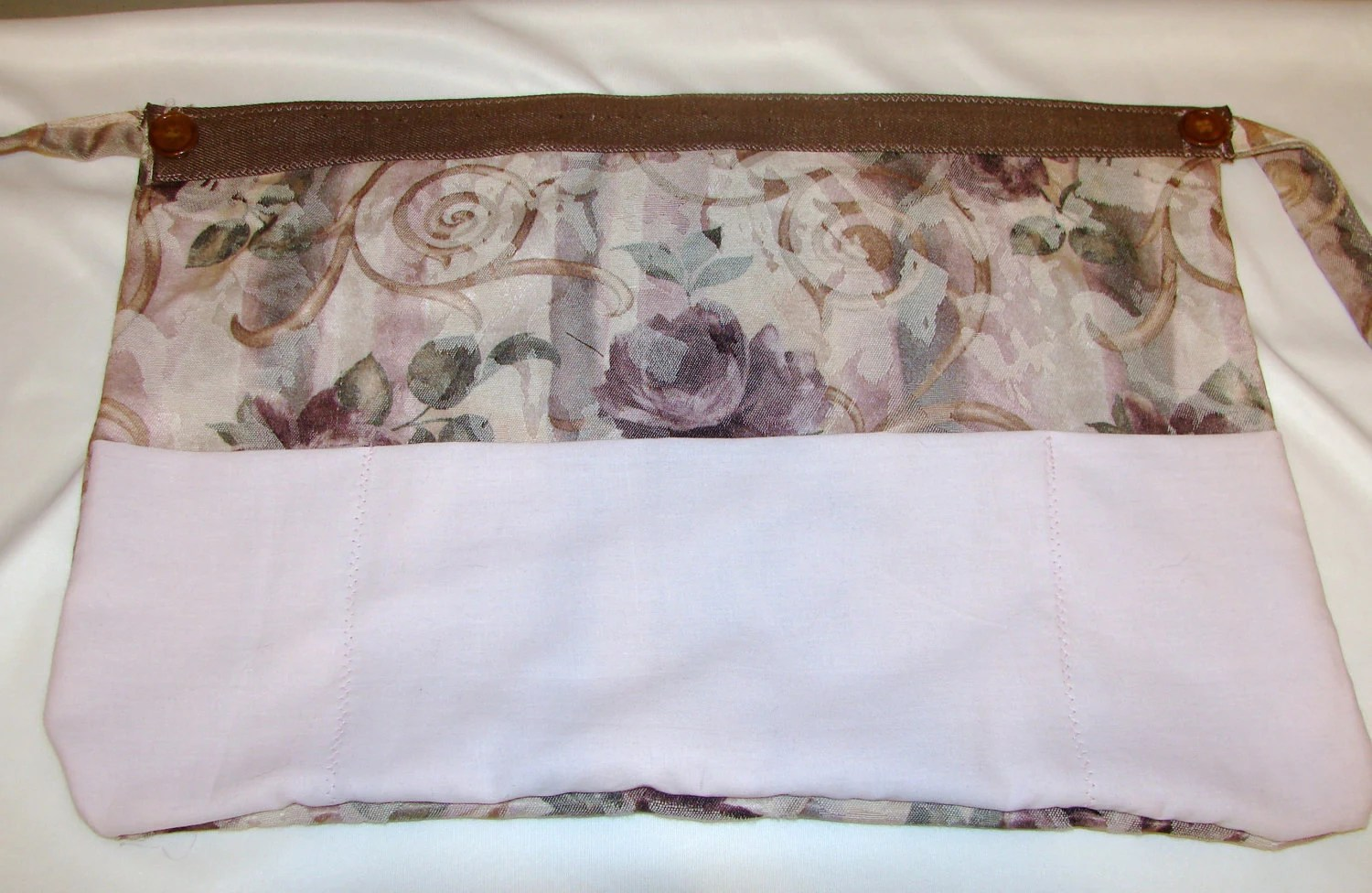 Half Apron Roses in Pink and Brown - OOAK