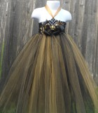 Black and Gold Tutu Dress - camyscloset