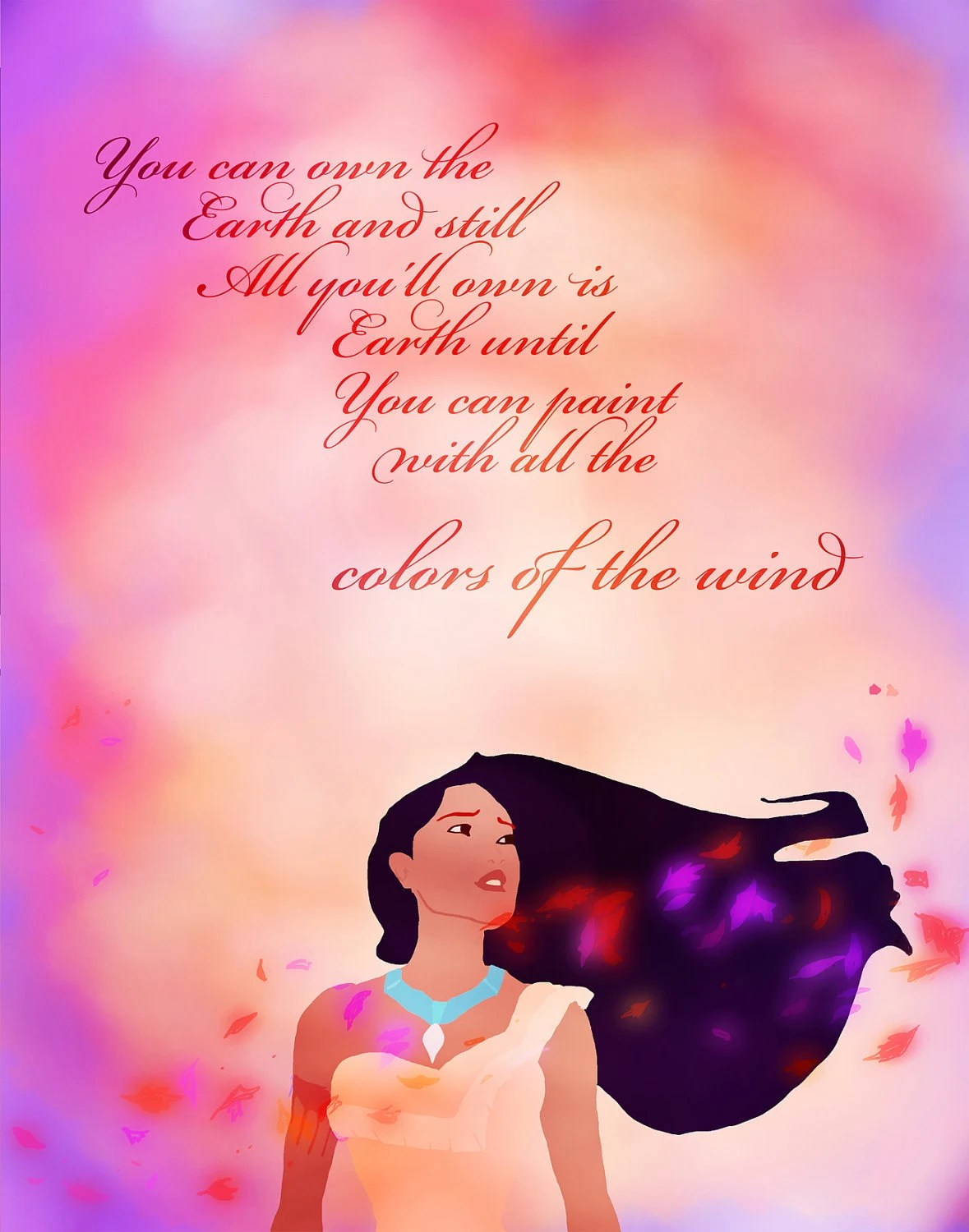Pocahontas Colors Of The Wind Digital File