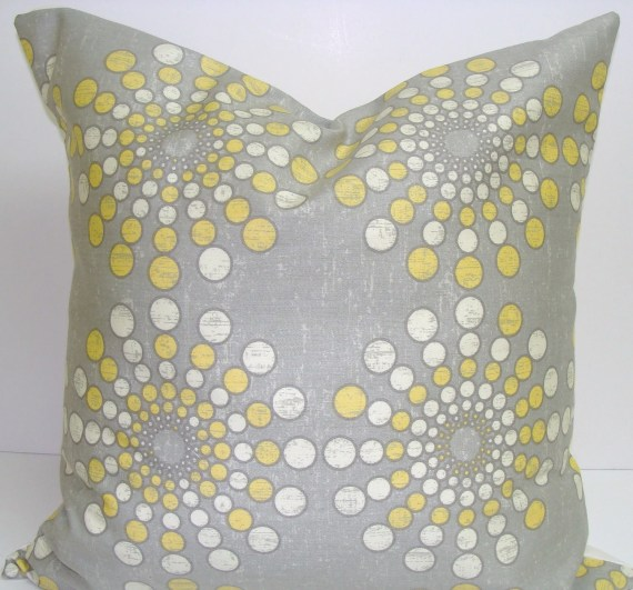 Sunburst Pillow.Yellow.18x18 inch Decorator Pillow Cover..Solar.Sunburst Pillow.Starburst - ElemenOPillows