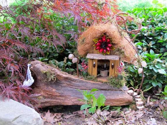 Blossom House:  A OOAK Outdoor Fairy House