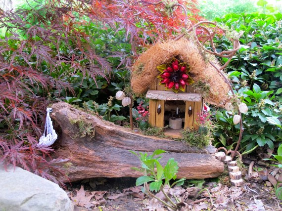 Blossom House:  A OOAK Outdoor Fairy House
