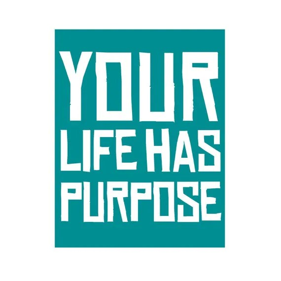 Your Life Has Purpose // inspirational affirmation quote print - ThirdArrowForMyHeart