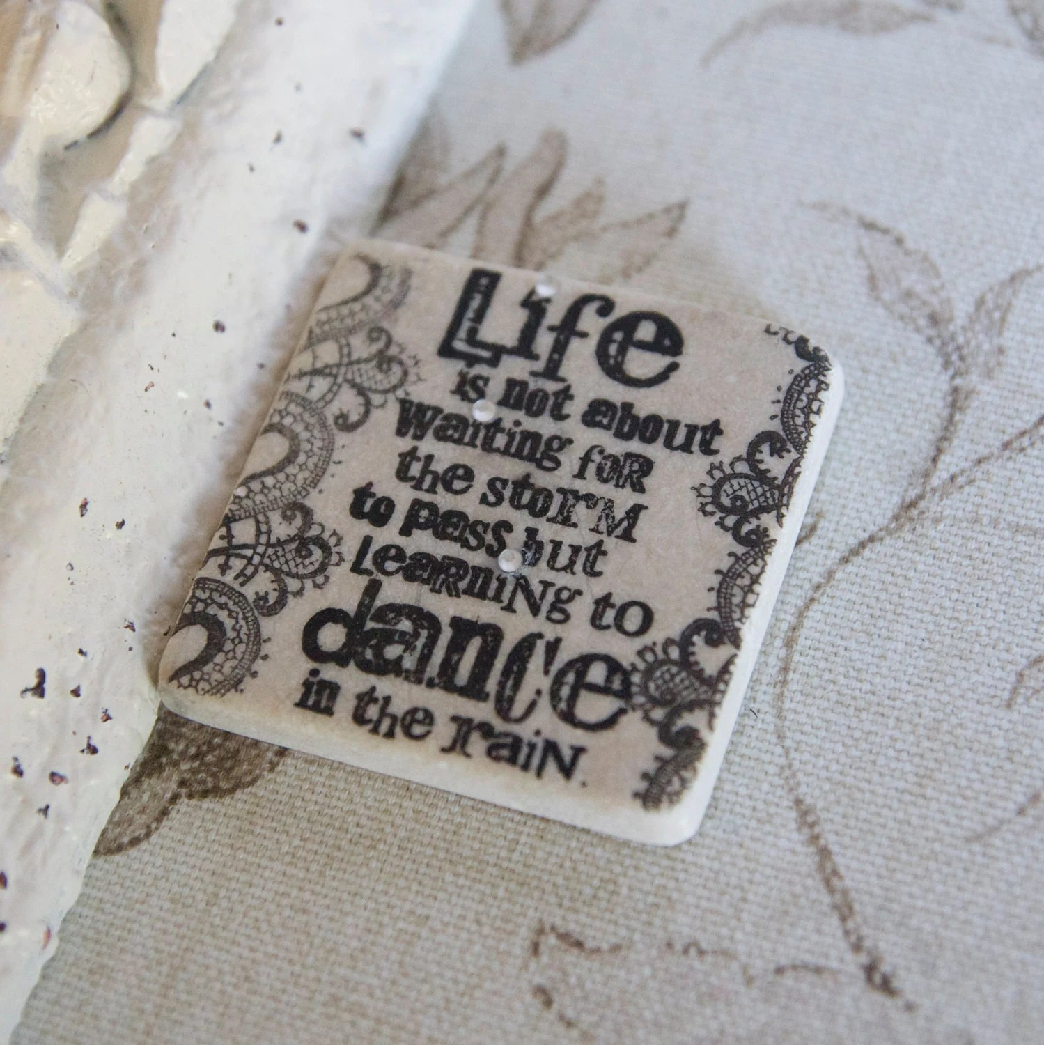 Life is not waiting for the storm to pass but learning to dance in the rain Magnet -wedding favor magnets