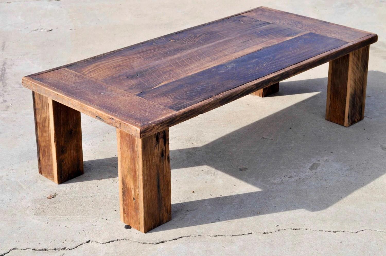 Reclaimed Oak Barn Wood Coffee Table The Herc By DohlerDesigns