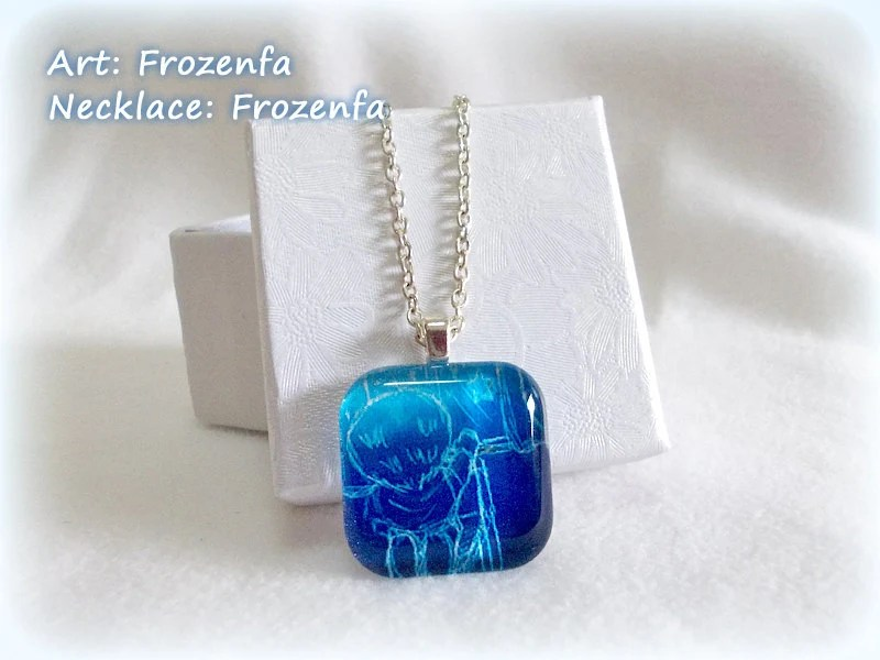 Make A Wish - Square Glass Tile Necklace