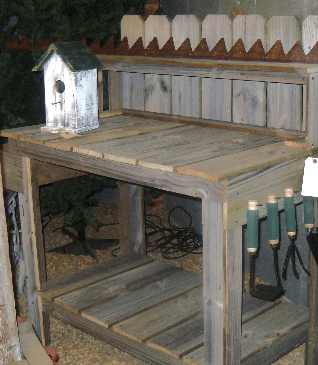 Potting Table Reclaimed Wood Potting Table By