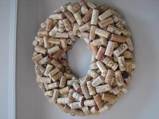 Used Wine Cork Wreath
