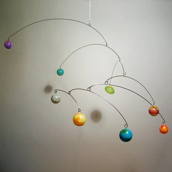 Art Mobile Glow In Dark 8 3D Planets by Julie Frith Childrens