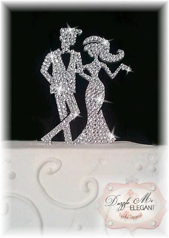 Bride And Groom Cake Topper Crystal Cake Topper Custom