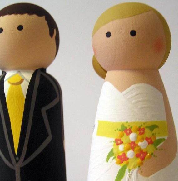Cake Cuties- Custom Wedding Cake Toppers LARGE SIZE