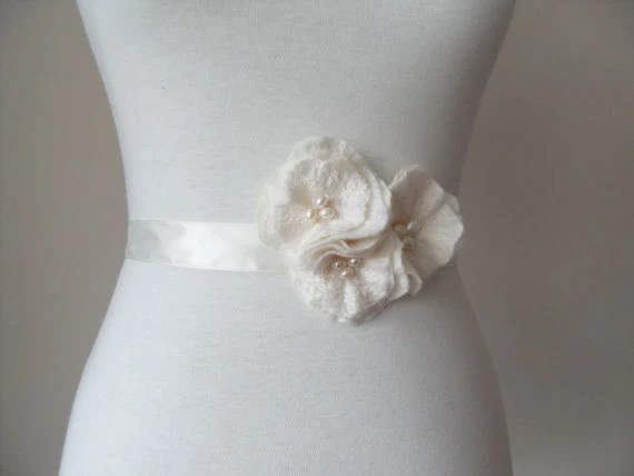 Bridal Sash Bridal Belt Wedding Sash Or Prom With Rose Flowers