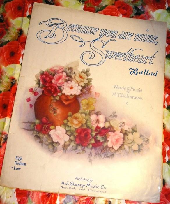 Vintage 1915 Rare Sheet M...