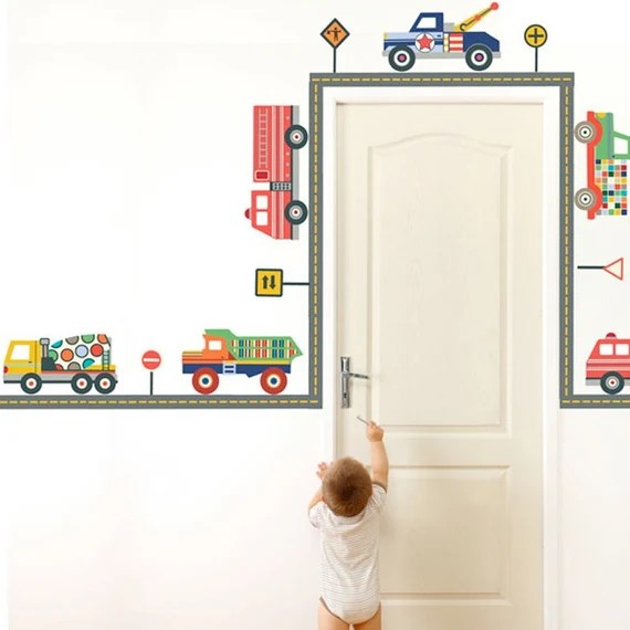 Trucks and Roads Wall Decal by WallDressedUp