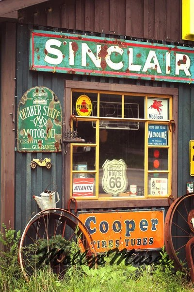 Items similar to Sinclair Gas, Old Gas Station, Photograph ... on Garage Decoration  id=33537