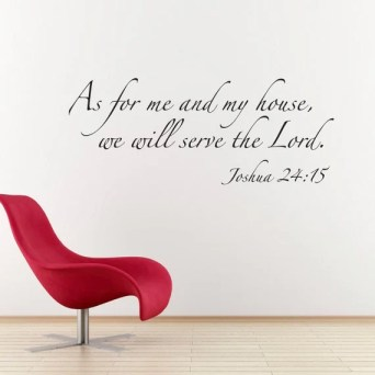Scripture Wall Decal - As for me and my house Bible Verse Decal Quote