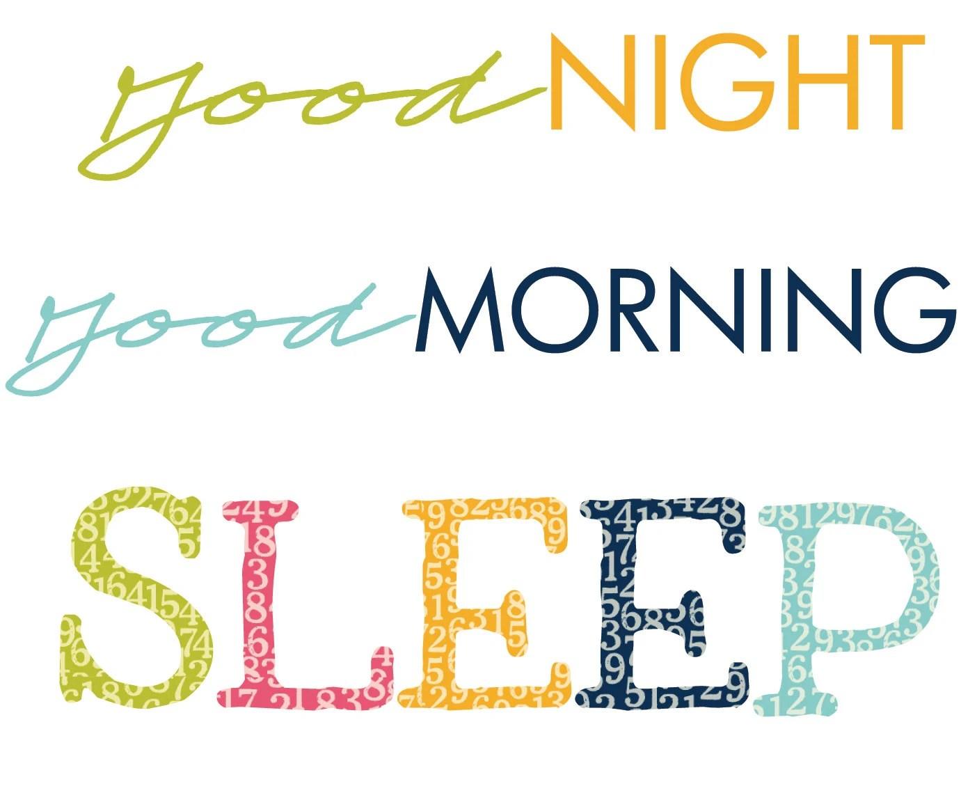 Good Night Good Morning Fabric Label