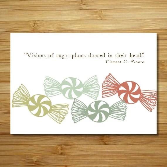 Custom Sugar Plum Holiday Cards // Set of 25 - kelpdesigns