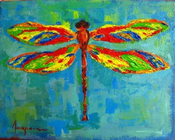 Dragonfly Art Art Room Decor Acrylic Painting Home Decor