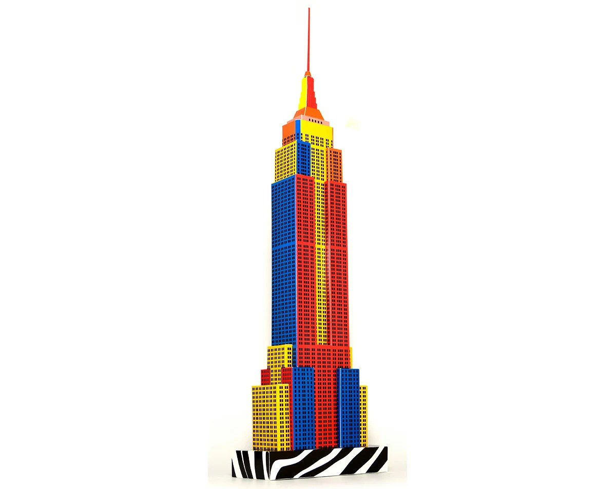 Empire State Building Model (ASSEMBLED) Pop-Art Edition