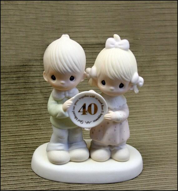 Precious Moments 40th Wedding Anniversary Boy Amp Girl Figurine
