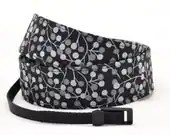 SLR Camera Strap dSLR - Black and Grey Floral - camera neck strap - TheSweetStrap